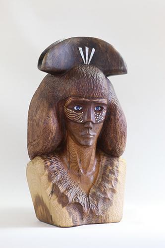 Benátčanka v klobúku, r. 2014-5, 62 x 35 x 31 cm