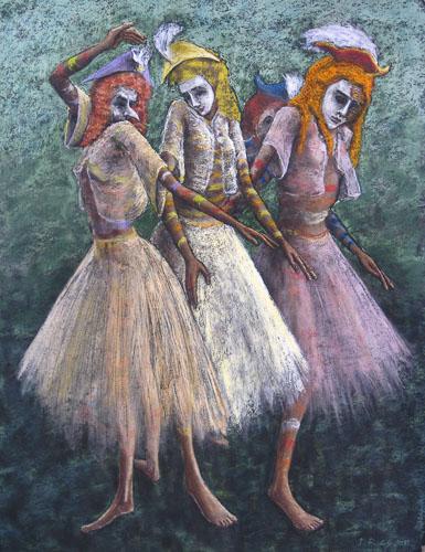 Benátsky karneval-Grácie, 2013,, 65 x 50 cm