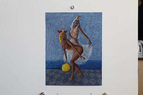 Benátsky karneval - Ihravé, r. 2016, 65 x 50 cm,