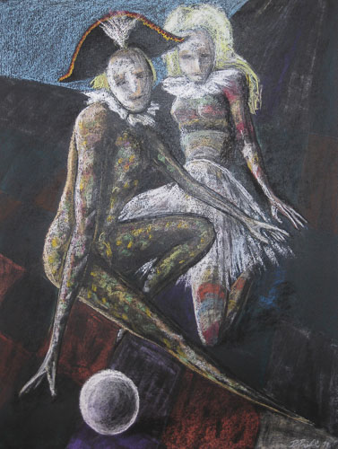 Benátsky karneval- Karneval, 2011, 65 x 50 cm