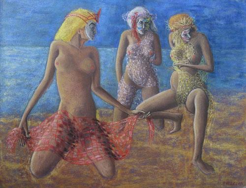 Benátsky karneval - Rybárky, 2015, 50 x 65 cm