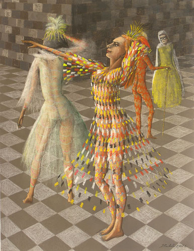 Benátsky karneval - Súmrak, 65 x 50 cm, 2016