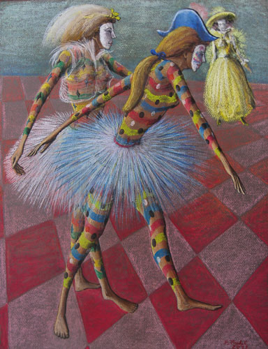 Benátsky karneval - Tančíme pre Teba, 2013, 65 x 50 cm