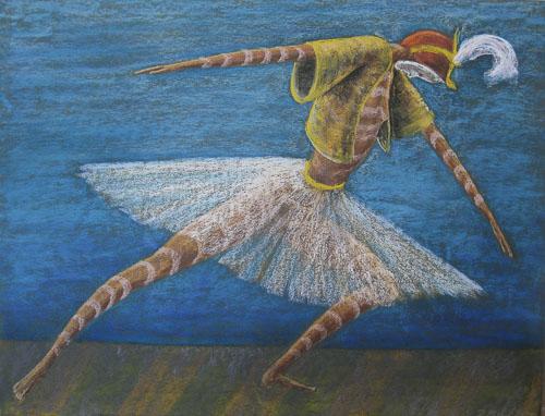 Benátsky karneval - Tanečnica, 2011,, 50 x 65 cm