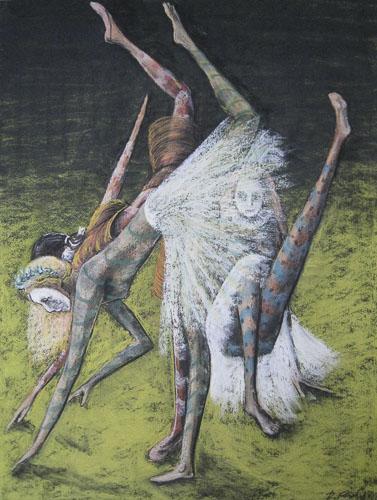 Benátsky karneval-Vykrúcajú sa, 2011,, 65 x 50 cm