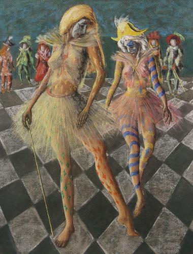 Benátsky karneval - Vykročenie, 2014, 65 x 50 cm