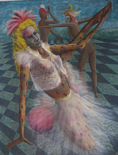 Benátsky karneval - Začíname, 2013, 65 x 50 cm