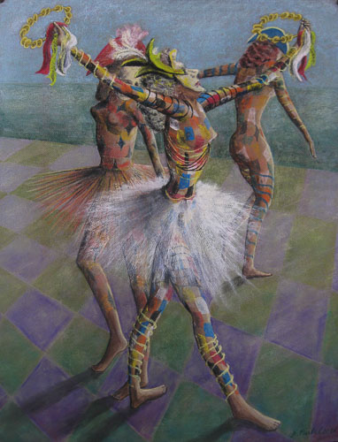 Benátsky karneval - Zvonivý tanec, 2014, 65 x 50 cm