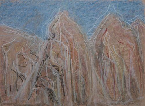 Dolomity - vertikály, 2010, 45 x 61 cm