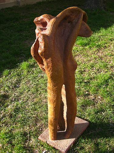 Drahomír Prihel, akad. soch., Filémón a Baukis, r. 2005, 122 x 33 x 50 cm, (6)