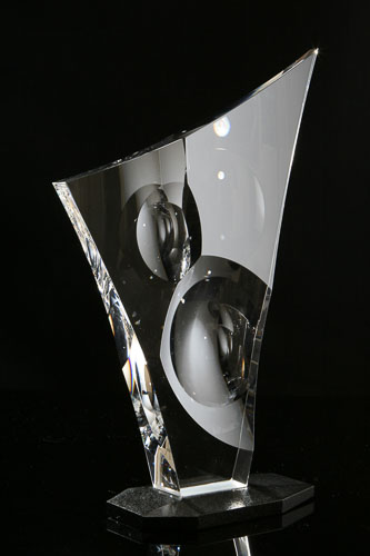 Harfa kryštálová r. 2008 41 x 27 x 12 cm-2