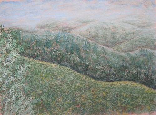 Na Beskydy a Javorinu, 2009, 45 x 61 cm