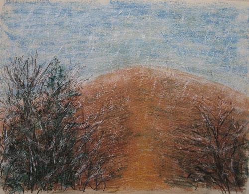 Prvá srieň, 2010, 45 x 61 cm