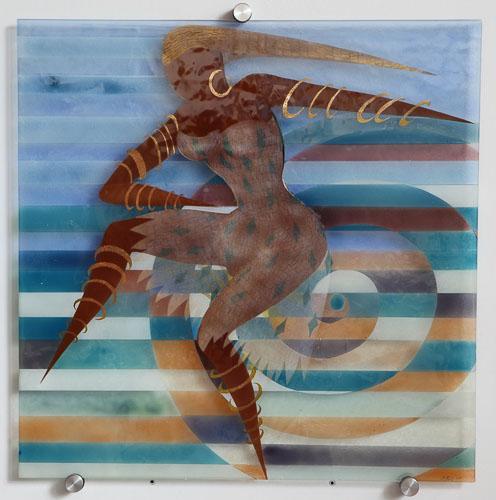 Tanečnica s náušnicou, r. 201, 75 x 75 cm
