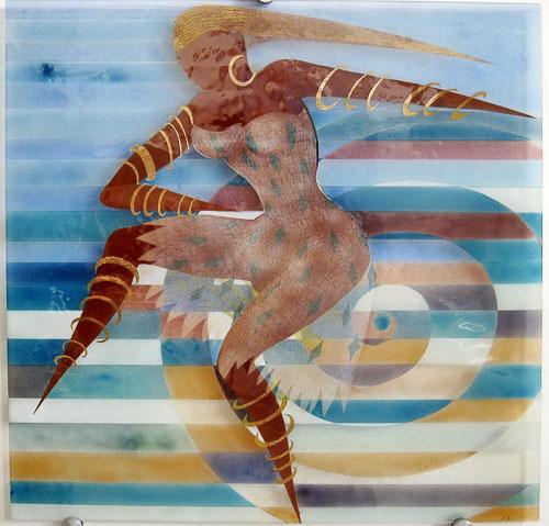 Tanečnica s náušnicou, r. 2010, 75 x 75 cm