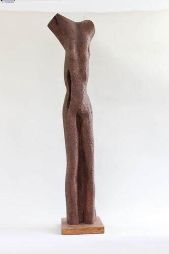 Torzo - štylizácia, drevo - čerešńa, r. 2012, 129 x 29 x 19 cm