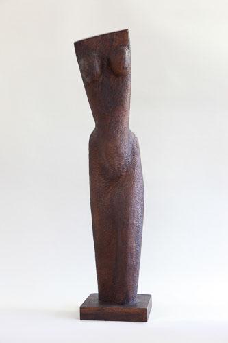 Torzo ženy, drevo - buk, r. 2014-5, 99 x 22 x 22 cm