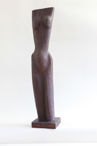 Torzo, drevo agát, 2015, 103 x 19 x 12cm