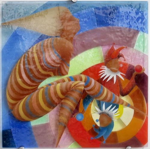 Triptych-Cirkusová artistka I., r. 2011, 75 x 75 cm
