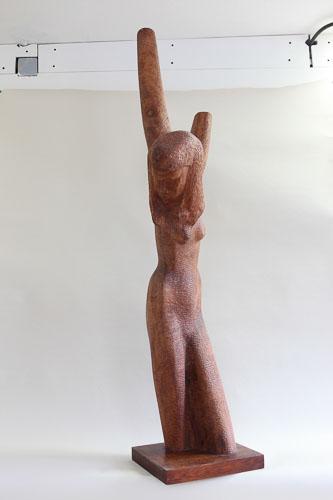 Zármutok, drevo - čerešňa, r. 2015 - 6, 148 x 33 x 41 cm