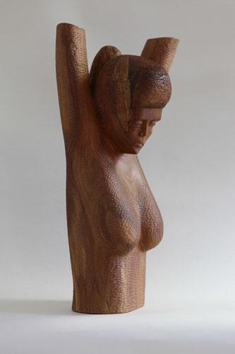 Zúfalstvo, drevo - hruška, r. 2014, 70 x 33 x 31 cm