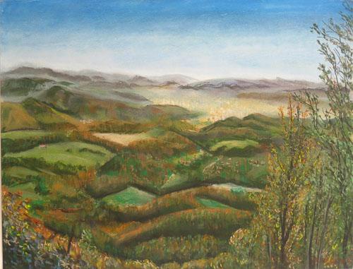 Z Tajovskej vyhliadky na Nízke tatry, 50 x 65 cm, r. 2016 - 7