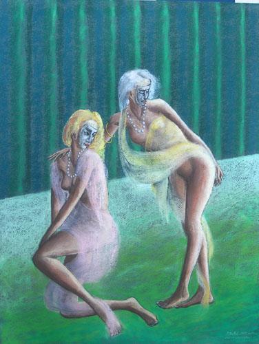Z divadla - Hra na Kolombínu, 65 x 50 cm, 2015, september