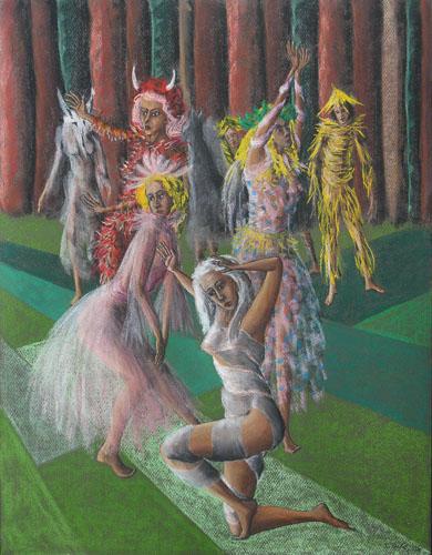 Z divadla - Hra o Masopuste, 65 x 50 cm, 2015, október, t