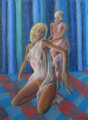 Z divadla - Ona, 65 x 50 cm, 2015, september, t