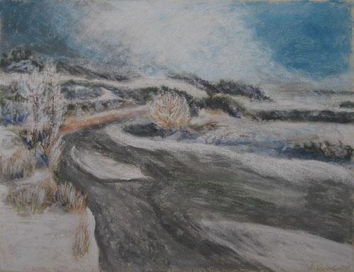 Zamrznuté ráno, 2011, 50 x 65 cm