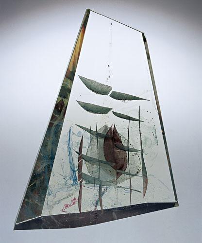 Zrkadlenie úsvitu v mori, r. 2004, 50,5 x 44 x 9 cm